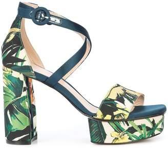 Stuart Weitzman Clara floral printed sandals