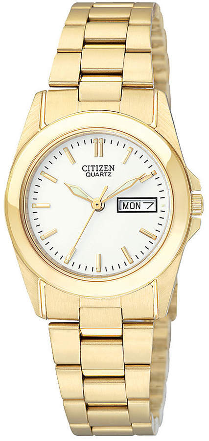 Citizen Women's Gold-Tone Stainless Steel Bracelet Watch 28mm EQ0562-54A