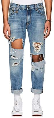 R 13 Men's Sid Distressed Straight Jeans