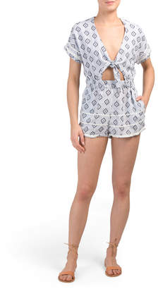 Juniors Australian Designed Tied Up Romper