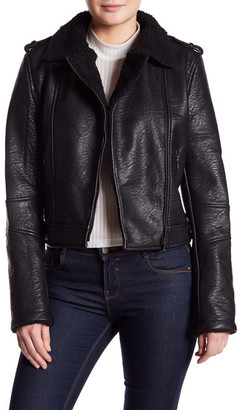 Jakett Vegan Jonnie Faux Fur Trim Jacket $198 thestylecure.com