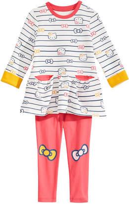 Hello Kitty Toddler Girls Striped Tunic & Leggings Set