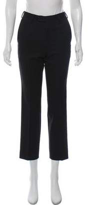Michael Kors Mid-Rise Cropped Wool Pants