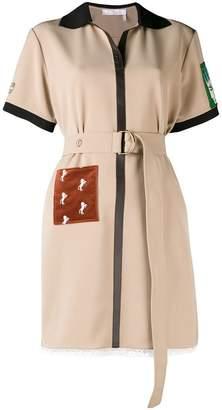 Chloé patched shirt dress