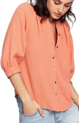 1 STATE 1.STATE Textured Cotton Blouse
