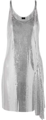 Paco Rabanne Metallic Chainmail Mini Dress - Silver