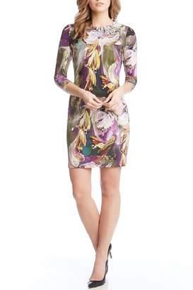 Karen Kane Abstract Floral Dress