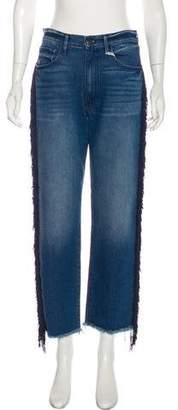 R 13 Mid-Rise Fringe-Trimmed Jeans w/ Tags