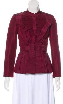 Oscar de la Renta Embellished Silk Jacket w/ Tags