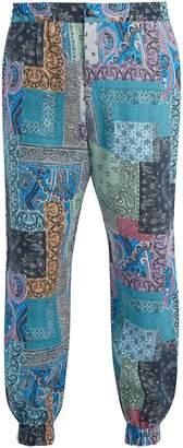 Etro Paisley-print linen trousers