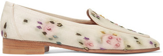 The Row - Adam Embroidered Raffia Loafers - Neutral $1,250 thestylecure.com