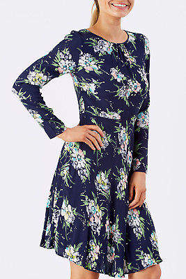 Emily And Fin NEW Womens Knee Length Dresses Elinor Dress WildFloral