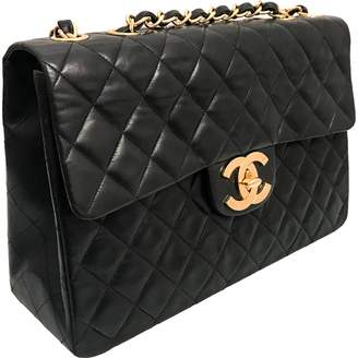 Chanel Vintage Timeless Black Leather Handbag