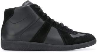 Maison Margiela panelled lace-up sneakers