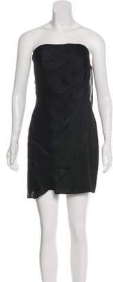 Rachel Zoe Satin Strapless Dress w/ Tags