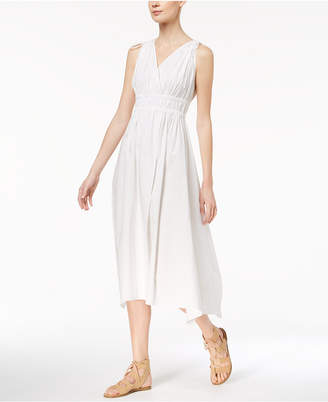 Marella Cotton Stretch Poplin Ruched Midi Dress