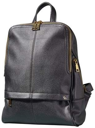 Yumi Dark Grey Iridescent Metallic Backpack