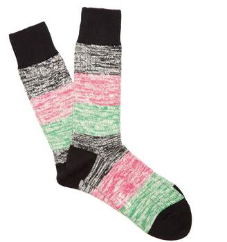 Paul Smith Twisted striped ribbed-knit socks