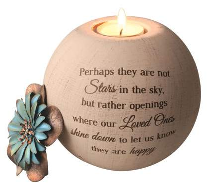 Pavilion Gift Company Stars in the Sky Memorial Tea Light Candle Holder - Round Globe