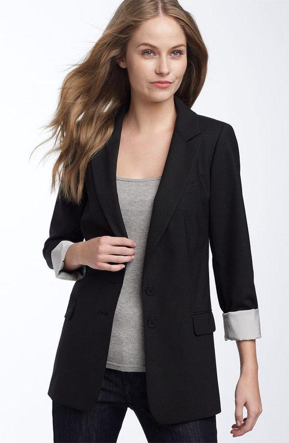 Halogen® Wool Boyfriend Jacket