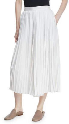Vince High-Waist Pleated Culotte Pants