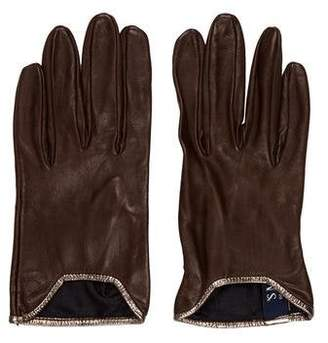 Max Mara 'S Leather Driving Gloves