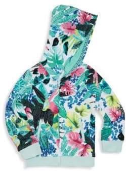 Catimini Little Girl's & Girl's Floral Hoodie