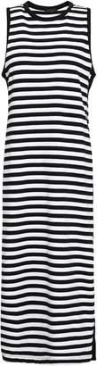 Rag & Bone Striped Cotton-jersey Midi Dress