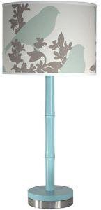 Thomas Paul Lamps GoldFinch/Bamboo Aqua Table Lamp