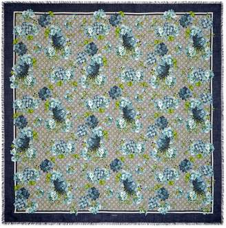 GG Blooms print modal-silk shawl $420 thestylecure.com