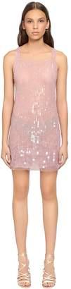 Alberta Ferretti Beaded & Sequined Tulle Dress