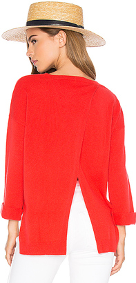 Autumn Cashmere High Low Open Back Sweater in Red $275 thestylecure.com