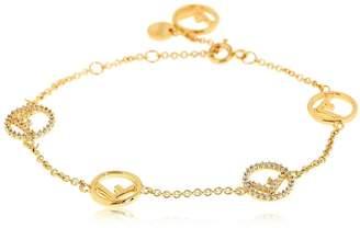 Fendi Logo Charms Bracelet