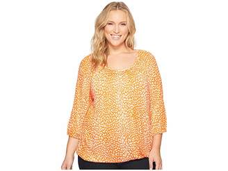 MICHAEL Michael Kors Size Cheetah Peasant Top Women's Clothing