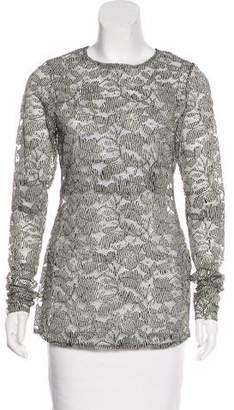 Schumacher Dorothee Guipure Lace Printed Top