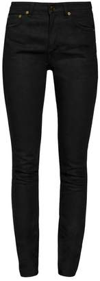 Saint Laurent Medium-Rise Five-Pocket Skinny Jeans