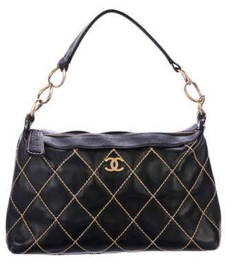 Chanel Surpique Leather Hobo