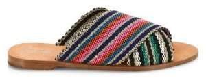 Diane von Furstenberg Cindi Multicolored Patterned Slides