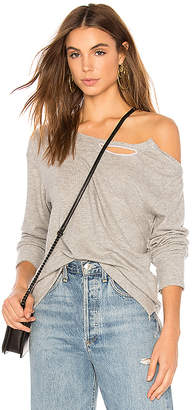 LnA Brushed Madly Off Shoulder Sweatshirt