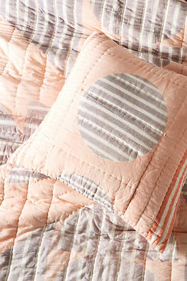 Anthropologie Striped Geo Euro Sham