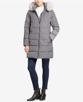 DKNY Faux-Fur-Trim Puffer Coat, Created for Macy's