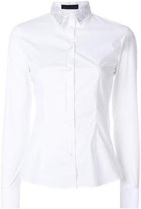 Frankie Morello micro stud collar shirt