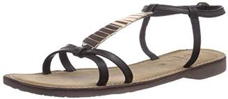 Salamander Womens Florine Ankle Strap Sandals Black Schwarz (black 01) Size: 5