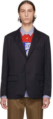 Comme des Garcons Homme Navy Military Lining Blazer