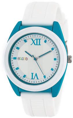 Crayo Unisex White Strap Watch-Cracr3601