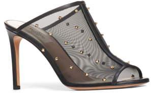 Valentino GARAVANI Studded Mesh Slide Sandal