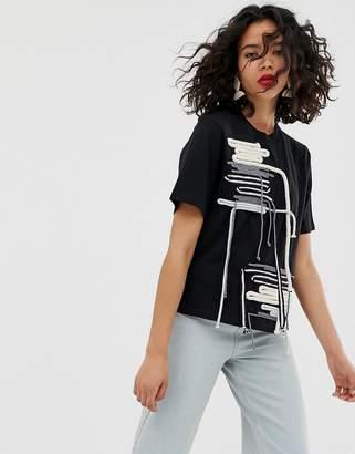 Asos rope detail t-shirt
