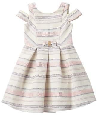 Blush by Us Angels Jacquard Stripe Dress (Toddler Girls)