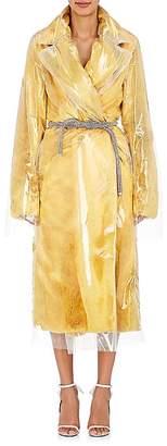 CALVIN KLEIN 205W39NYC Women's Plastic-Layered Faux-Fur Coat