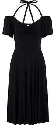 Bailey 44 Off-The-Shoulder Stretch-Jersey Halterneck Dress